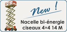 Nacelle bi-énergie ciseaux 4×2 14 M